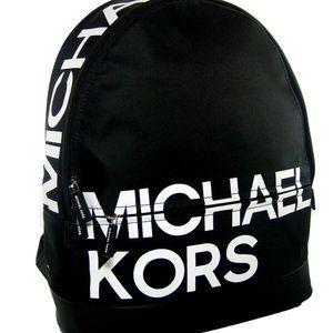 Michael Kors Logo Full Size Backpack Black NWT